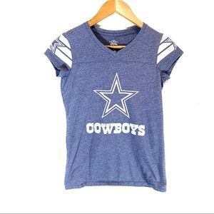 Dallas Cowboys • Cap-Sleeve V-Neck Tee
